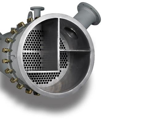 Vertikaler Rohrbündel Wärmeübertrager für die chemische Industrie